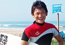 サーフィンで最高の笑顔